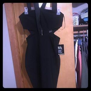 Woman's mini black dress